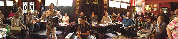 Panorama photo of Keith Summers Memorial Day at the King & Queen, 2005